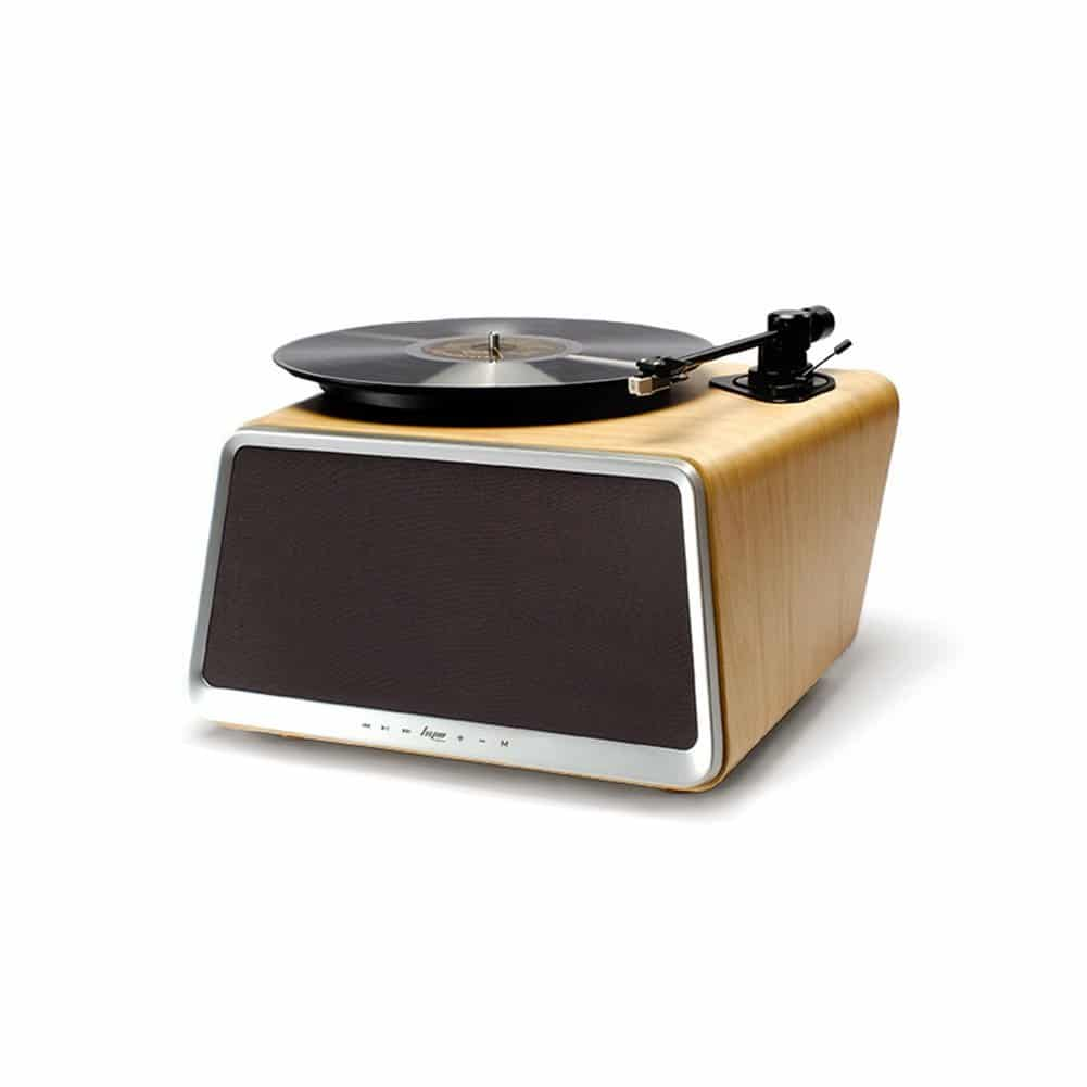 HYM Seed Modern All-In-One Record Player with Speakers