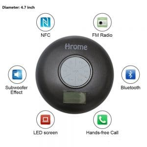 Hrome Shower Radio Speaker Features