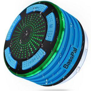 BassPal Portable Wireless Bluetooth Shower Speaker & Radio