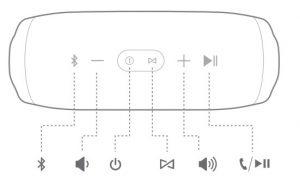 jbl charge 3 controls