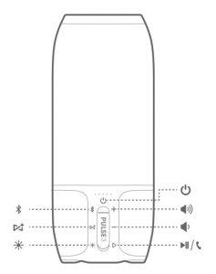 jbl pulse 3 controls