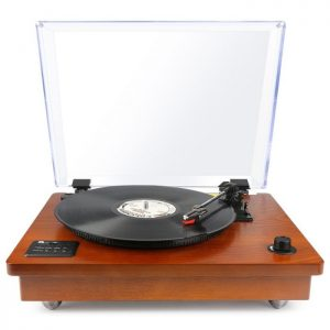 1byone Bluetooth Turntable with Stereo Speakers