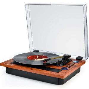 Wockoder Retro Vinyl Player