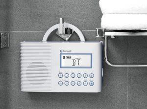 Sangean H202 Hanging In Shower