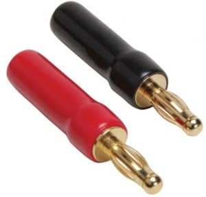 gold plated screw type banana plugs