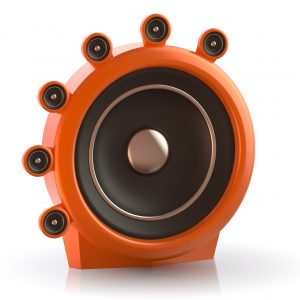 Woofer speaker with many smaller woofers on it